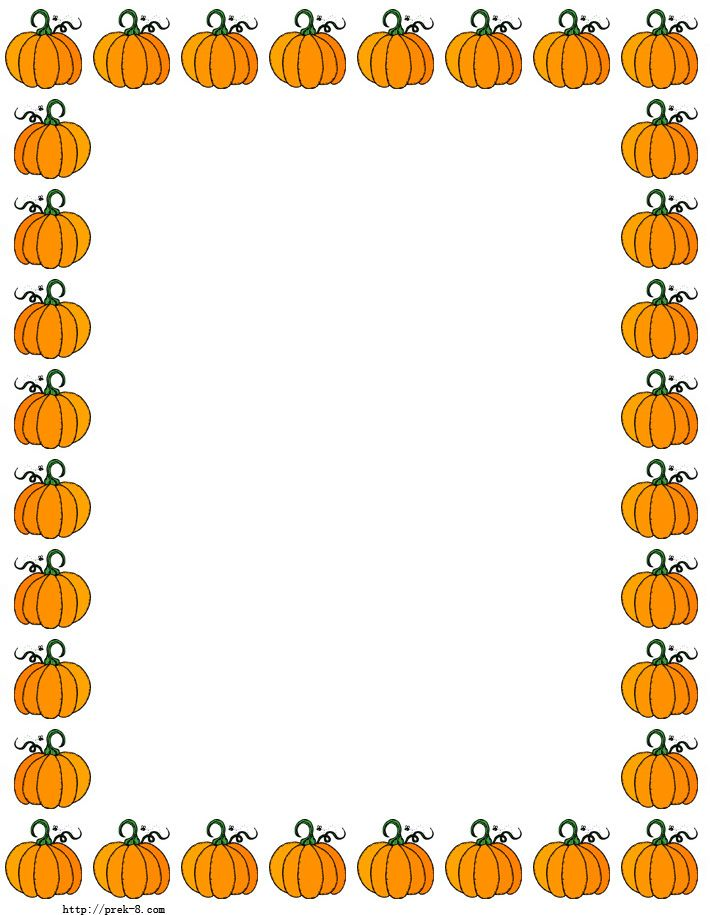 halloween cute pumpkins border paper, Free printable halloween paper border
