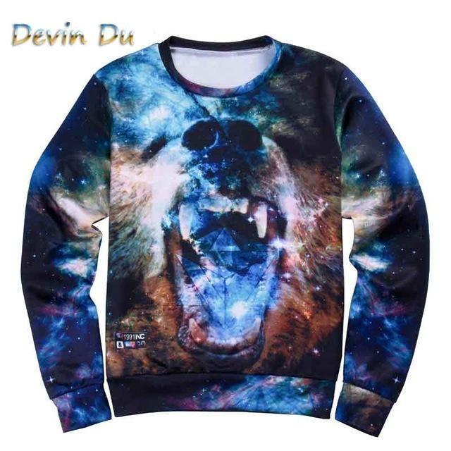 ae5b1ba9d762 Harajuku style men women s 3D graphic sweatshirts funny print tiger pizza  lion novelty crewneck sweat shirts pullover hoodie