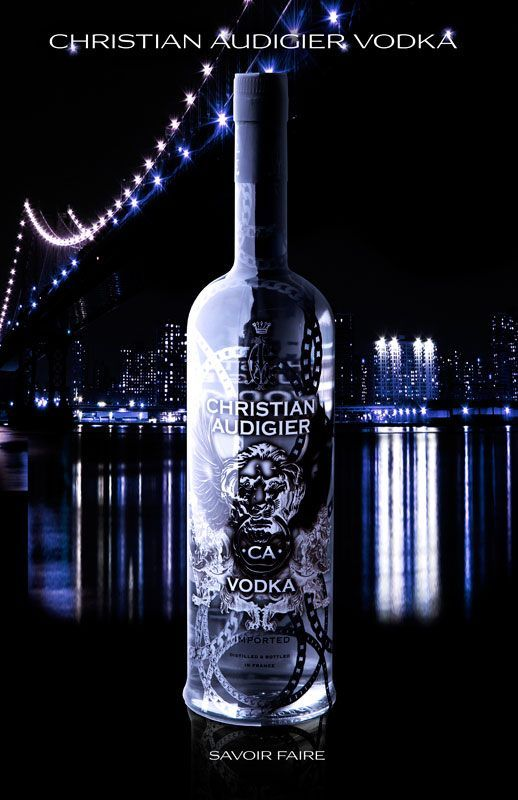 Christian Audigier Vodka, 70cl, 40% abv.