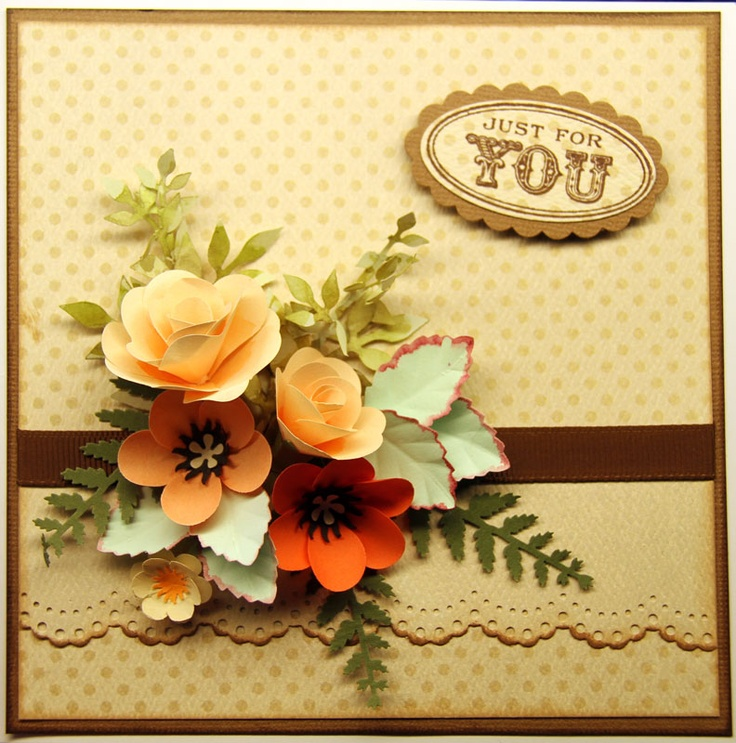 Hobbyboden's Blog: Floral Punch CraftHobbyboden Blog, Beautiful Cards, Scrapbook 3D Flower, Crafts Ideas, Cards Ideas, Cardmaking Ideas, Floral Punch Crafts, Flower Cards, Scrapbooking Crafts