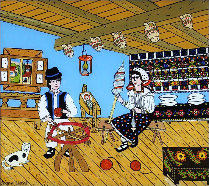 Pictura naiva pe sticla - Ioana Lutai -Icoanepesticla-Sapanta.Ro - foto Cristina Nichitus Roncea