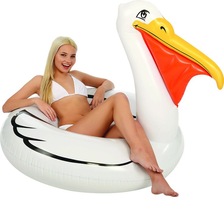 "Kangaroo Pool Floats; Jumbo Pelican Inner Tube, 5 Ft. 62"" Original Pelican Pool Float, Inner Tube Swim Raft. Heavy Duty, Durable .25mm Vinyl Pool Float; Lasts Longer, Avoids Punctures. Kangaroo's Pool Floats For Kids & Adults Are The Best In The Industry!. Great For Memorial Day, 4th of July and Labor Day Pool Parties."