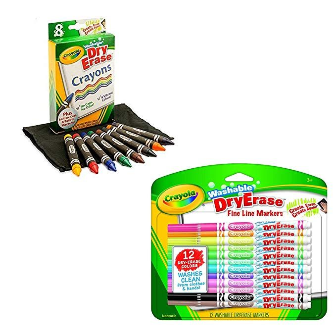Crayola Washable Dry Erase Markers Dry Erase Crayons For Use With The Rocketbook Color Smart Notebook Erase Crayon Dry Erase Markers Dry Erase