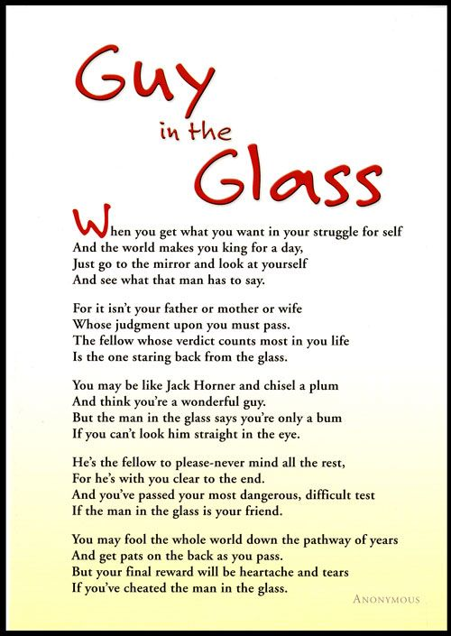 The guy in the glass poems pinterest the guys the glass and