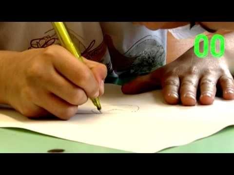 Leuk voor in de klas! Een tekening afmaken in 10 seconden. En daarna dezelfde tekening afmaken in 10 minuten. Wat een verschil!