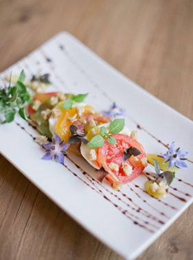 beautifully displayed food edible flowers from southern weddings magazine