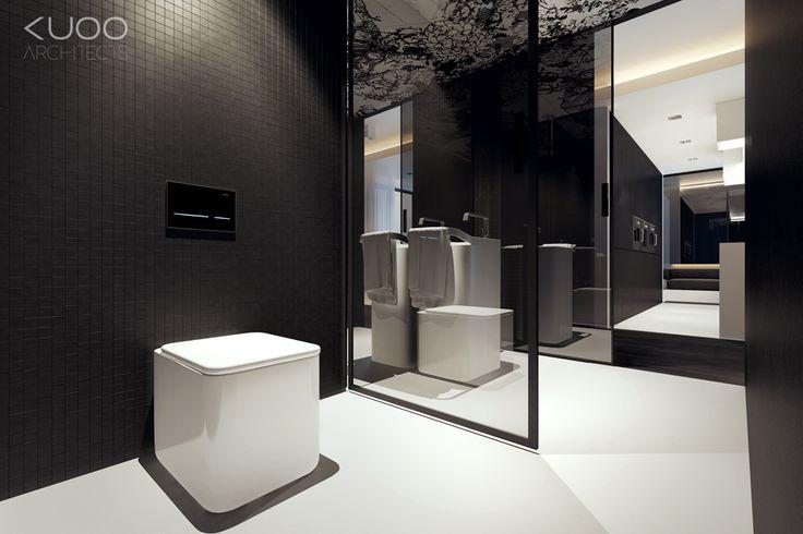 Meer dan 1000 idee n over zwarte tegels op pinterest zwart betegelde badkamers badkamer en - Voorbeeld deco badkamer ...