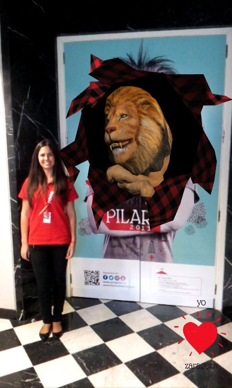 People playing with #augmentedreality experience in 2013 Pilar festival #6