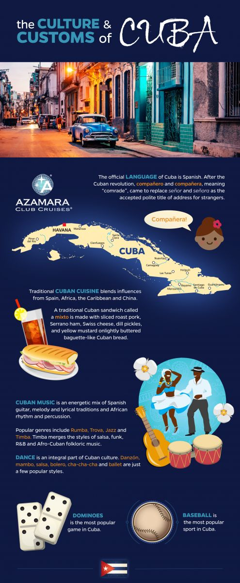 Get to know the customs and culture of #Cuba with this helpful #infographic. #travel
