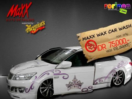 50% Off Discount For Any Type And Colour Wax Car Wash From Maxx Auto Detailing. Cleaning Your Car With Meguiars Wax Car Wash Products Now Only Idr 75,000,- At www.roripon.com