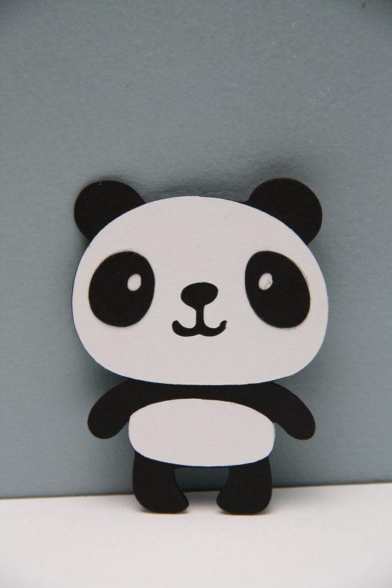 Panda Bear Die CutSet of 8 by CraftingCrew on Etsy, $4.00