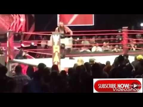 Roman Reign Destroy Braun Strowman  After RAW Went Off Air WWE RAW 3/13/17