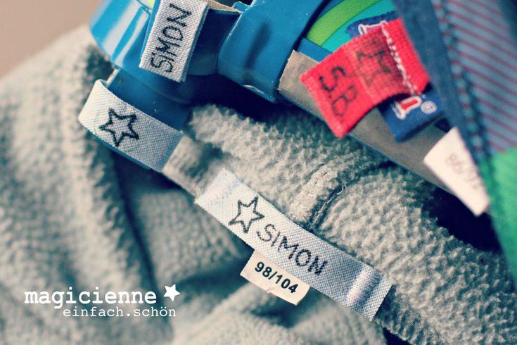 Labels und Namensetiketten selber machen für die Kleidung und alle anderen Sachen der Kinder, egal ob Kindergarten oder Schule. So geht es.
