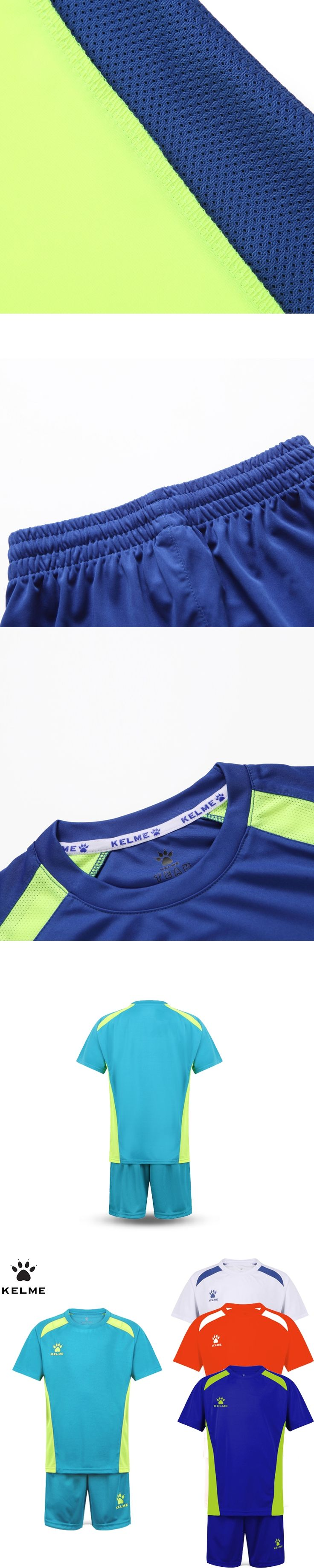 KELME Children Soccer Sets Boys Summer Football Jerseys Clothing Set 2pcs Sportswear Suit For Kids Uniform Survetement Sports