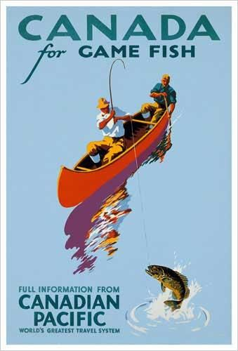Canadian Pacific vintage print - Canada For Game Fishing