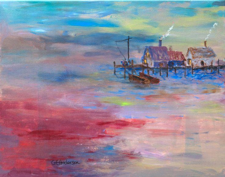 title: Fishing Village artist: Gary Anderson