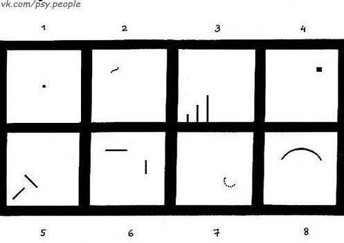 ТЕСТ ВАРТЕГГА Хотите научиться расшифровывать знаки подсознания? С помощью графических проекций (ассоциативных рисунков) квадратов Вартегга Вы узнаете о таких сторонах личности, проявляющихся в графических символах, как: самооценка; социальные навыки; амбиции, активность и способы достижения цели; внутренняя ус�