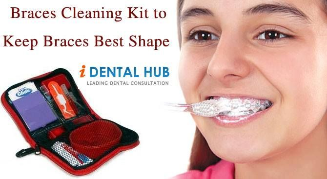 how to clean my braces
