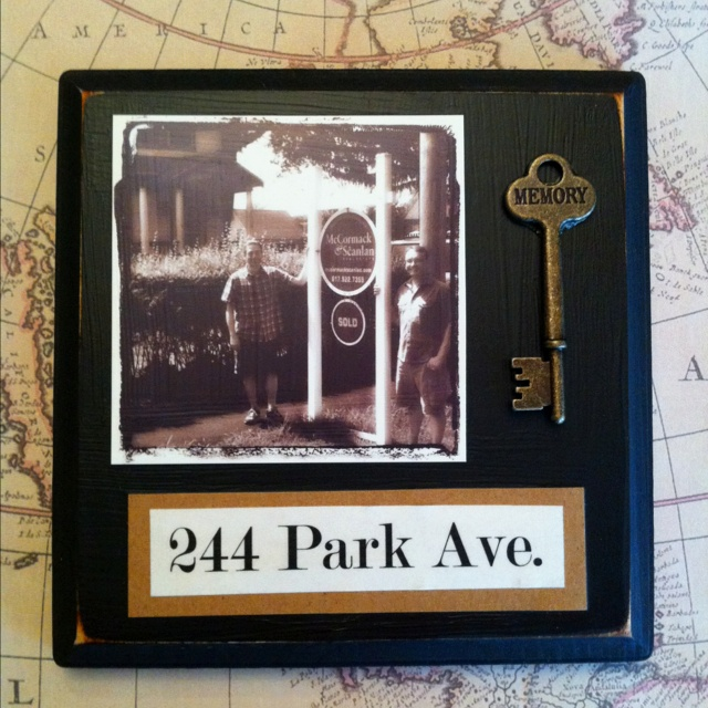 """Housewarming gift idea (altered a bit) Google map the location of the new home... print it out. Mat it and frame it, and add the address using stickers & cardstock. Add a """"pretty"""" key.. I think it would be super cute, and pretty inexpensive."""