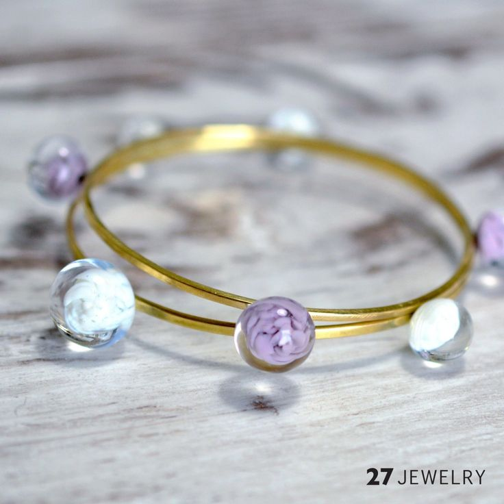 new stackable handmade glass and metal 27jewelry bracelets