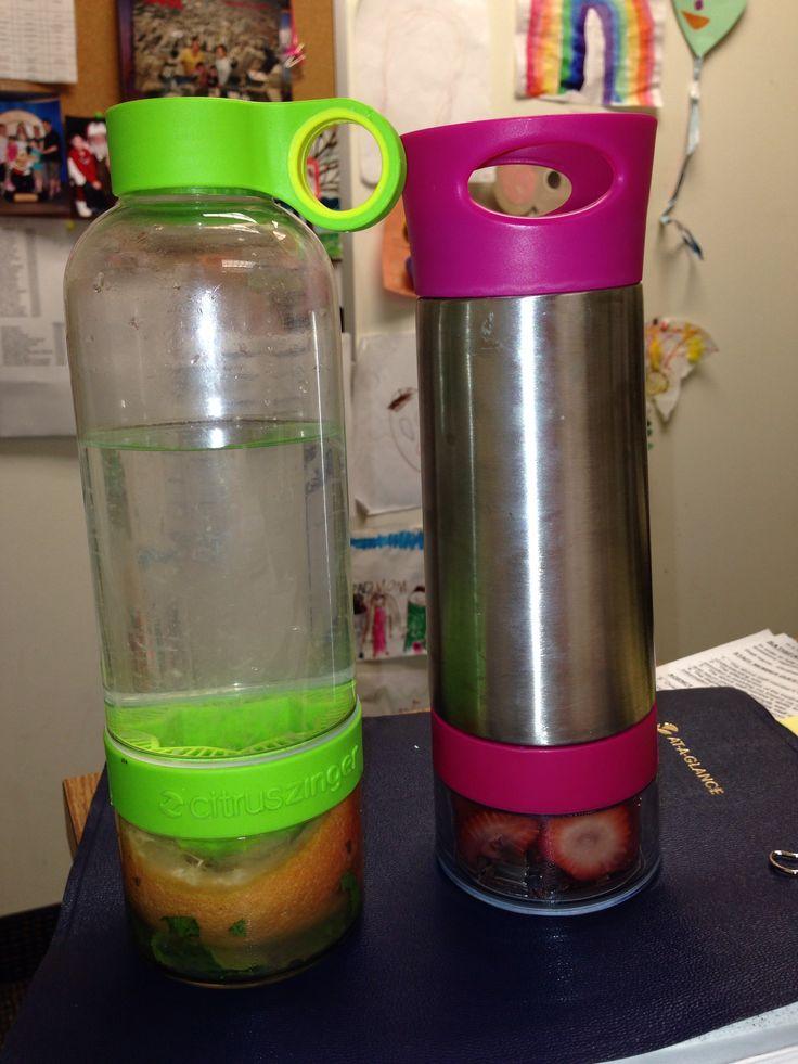 Citrus zinger and aqua zinger water bottles