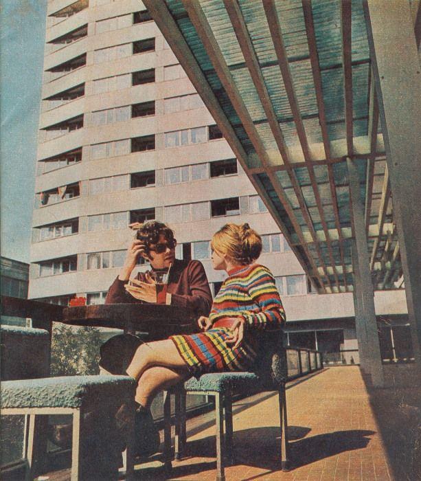 Warsaw, Zodiak pavilion - photo: Z. Hattowski, 1969