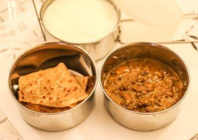 Dal Makhani & Paratha (Kids School Lunch Box Ideas)