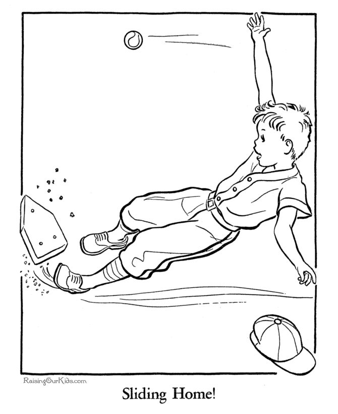 free coloring pages of baseball - photo#34