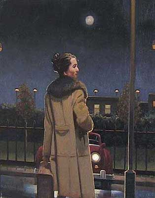 Jack Vettriano Moving On Oil on canvas 20 x 16 inches