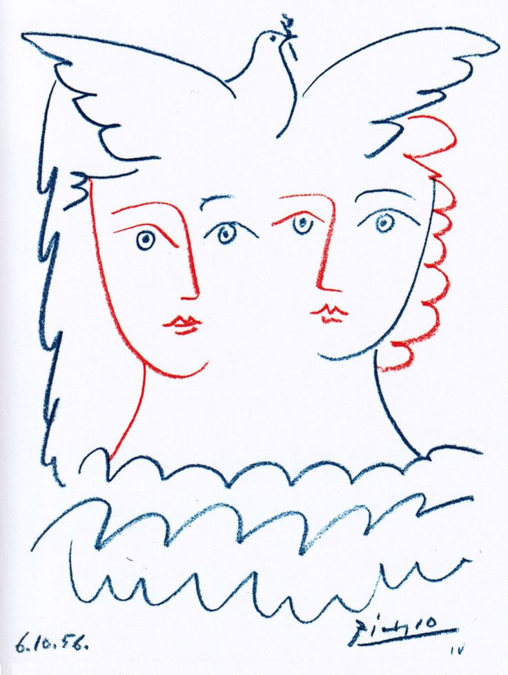 Pablo Picasso. Peace, 1956.