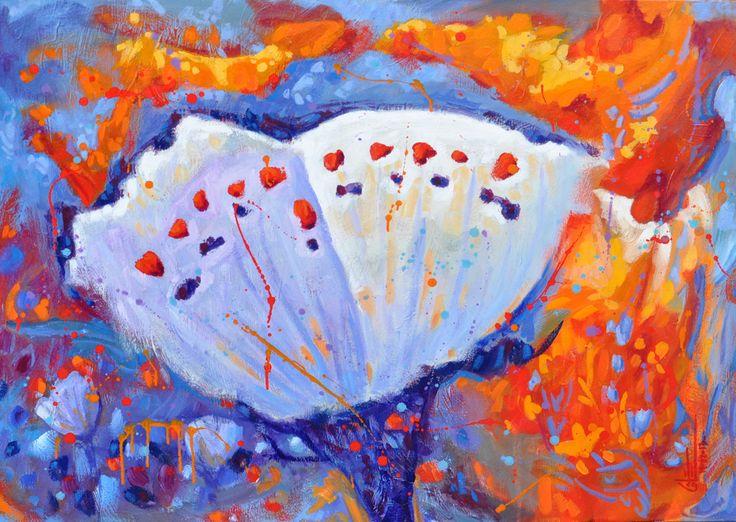 Butter-flower acrylique sur toile   36 x 48po.  2013