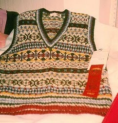 First fair isle vest I ever knit, 20 years ago