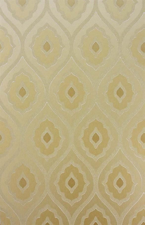 Vignola Wallpaper in Gold by Nina Campbell for Osborne & Little