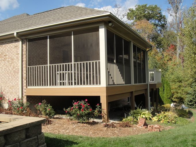 Best 25 screened in porch cost ideas on pinterest porch plans screened in porch plans and - Screen porch roof set ...
