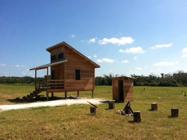 Off grid sustainable mini farm in belize small homes for Shack at hinkle farm