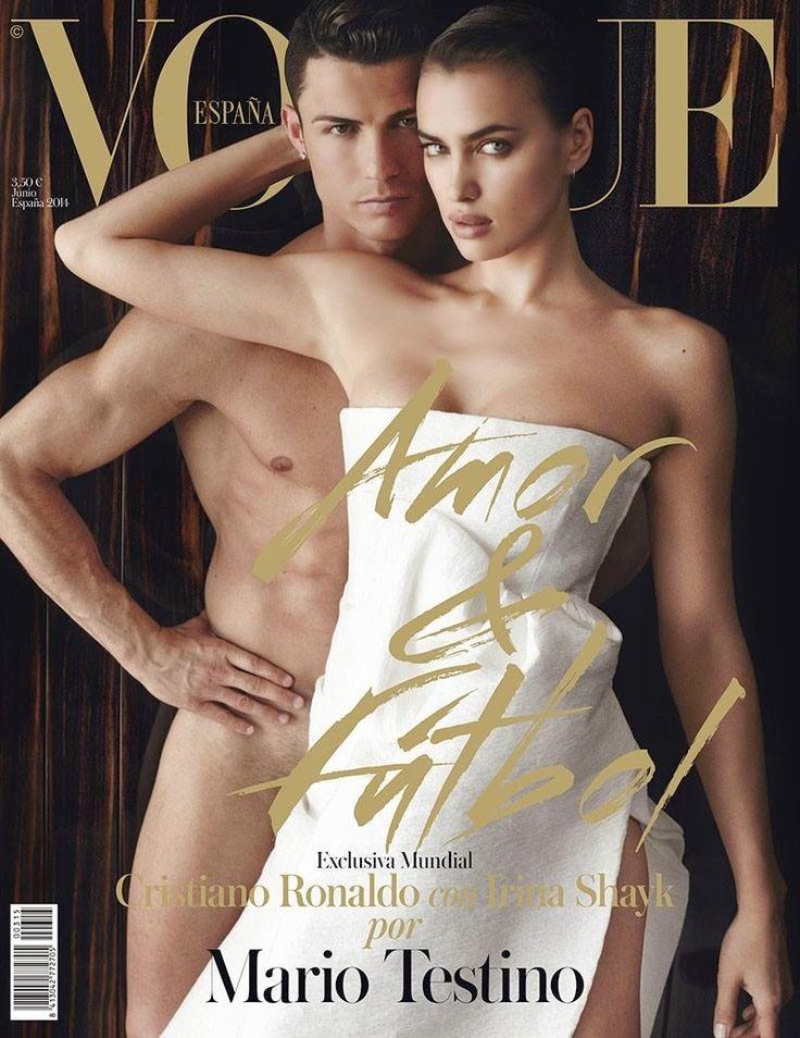 CRISTIANO RONALDI  &  IRINA SHAYK | VOGUE SPAIN JUNE,2014 COVER  PHOTOGRAPHED BY  MARIO TESTINO