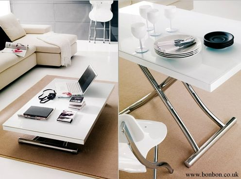 NEED!  Space saving table · Planet coffee or dining table · Bonbon Compact Living
