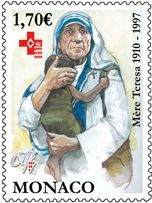 Monaco stamp 2010 - Commemorative 100th birthday of Mother Theresa