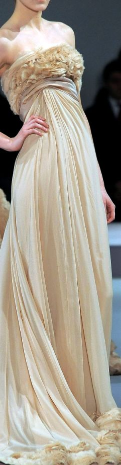 flowing, strapless Elie Saab