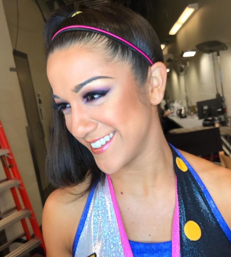 """Official WWE makeup team on Instagram: """"We sure do miss this hugtastic face in the makeup world!! Wishing @itsmebayley a fast and easy recovery Makeup by @makemeblush_mua while while we were in Cleveland couple weeks ago #wwe #itsmebayley #shesahugger #wweglamsquad #wwesuperstars #raw #glam #beauty #raddestmakeupcrew"""""""