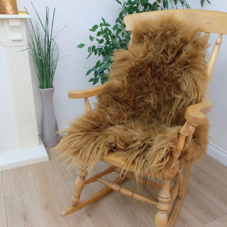 Ginger Brown Icelandic Sheepskin Rug Incredibly Effective Whole Skin Best Quality Genuine