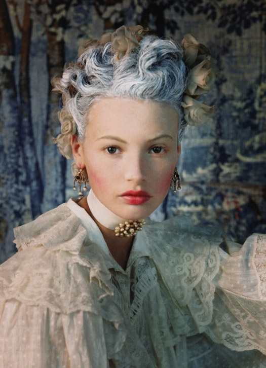 .Fashion Weeks, Vogue Spain, Mona Johannesson, Colours Hair, Fashion Design, Blue Hair, Vogue Espana, Mary Antoinette, Haute Couture