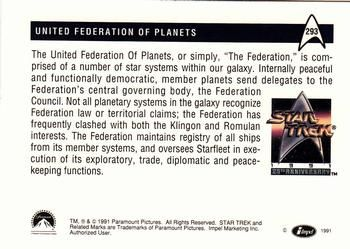 1991 Impel Star Trek 25th Anniversary #293 United Federation of Planets Back