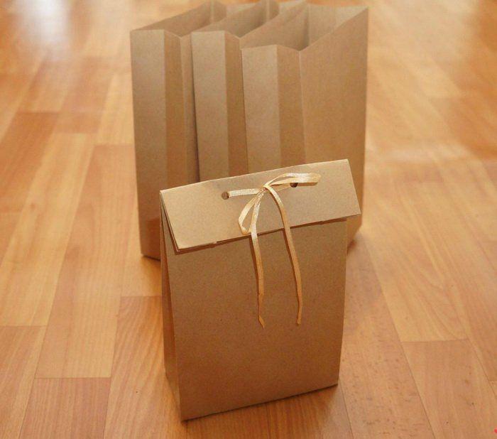 Пакет из крафт-бумаги без выкройки