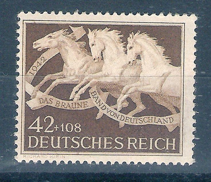 1942 Briefmarken Deutsches Reich Braunes Band Mi.Nr. 815**
