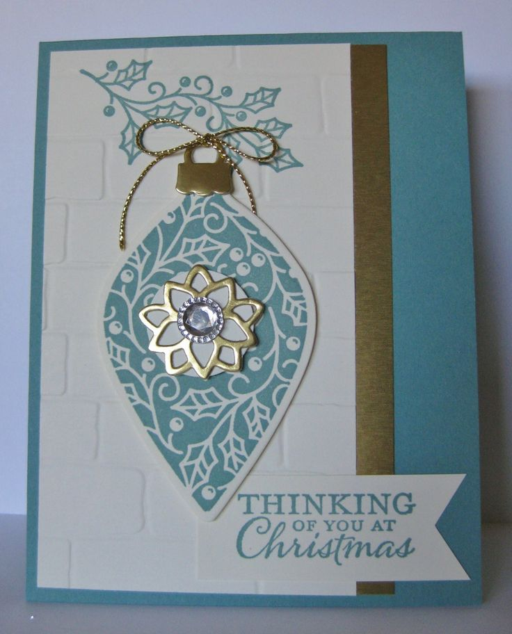 17 Best Images About Stampin' Up! Embellished Ornaments On