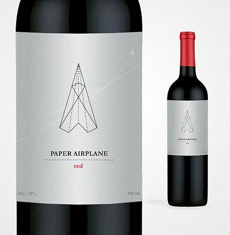 Paper Airplane Red - Graphic Design and Packaging Design | Minimal | Elegant