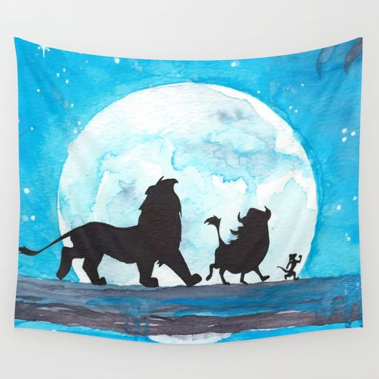 The Lion King Stencil Wall Tapestry by Brietron Art - $39.00