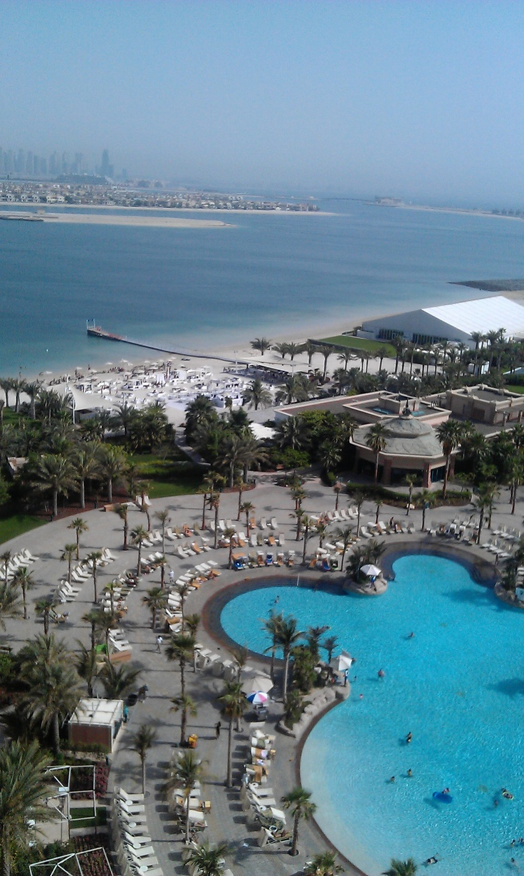 The Atlantis, Dubai. View from our 11th floor suite.