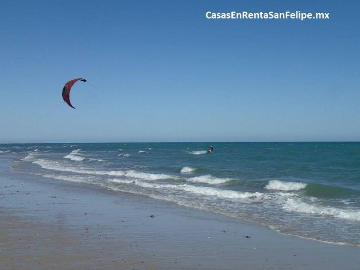 kitesurf en san felipe a lo largo de la orilla #sanfelipe #sanfelipekitesurf
